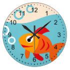 Cute Fish Large Clock