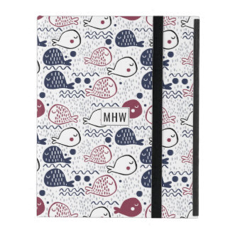 Cute Fish Pattern custom monogram device cases