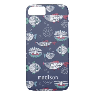 Cute Fish Pattern custom name phone cases