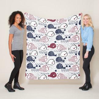 Cute Fish Pattern fleece blankets