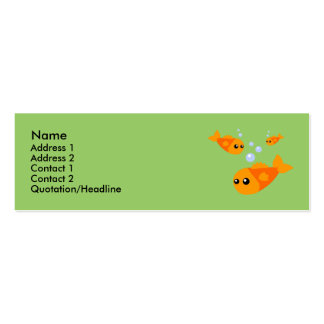 Cute Fish Profile Cards Business Cards