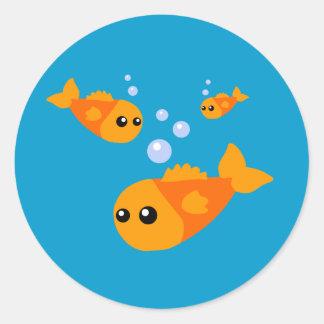 Cute Fish Round Stickers