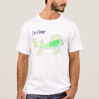Cute fish with I'm a keeper text T-Shirt