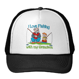 Cute Fishing -  with Grandson Mesh Hats