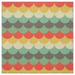 Cute fishscale pattern retro fabric
