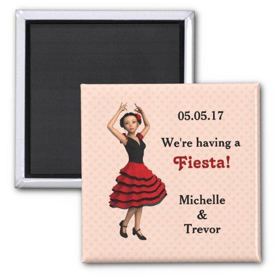 Cute Flamenco Dancer (Personalised) Magnet
