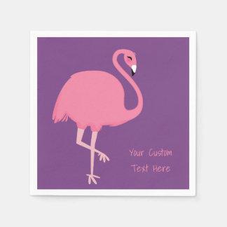 Cute Flamingo custom text paper napkins Disposable Serviette