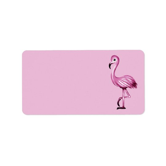 cute Flamingo Label