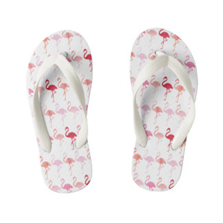 Cute Flamingo Pattern Kids Flip-Flop Flip Flops