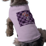 Cute Flamingo; Purple Sleeveless Dog Shirt