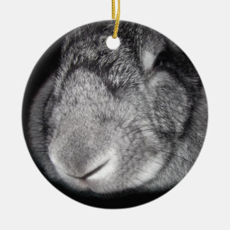 Cute Flemish Giant Nose Close-Up Christmas Ornament