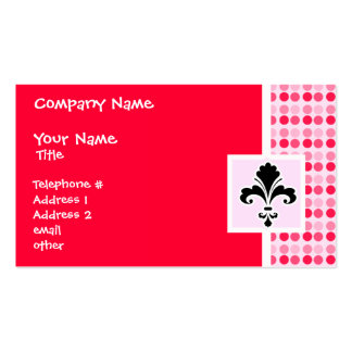 Cute Fleur de lis Double-Sided Standard Business Cards (Pack Of 100)