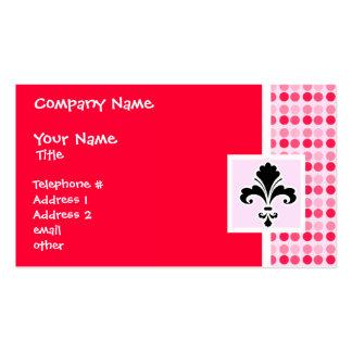 Cute Fleur de lis Pack Of Standard Business Cards