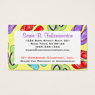 Cute Flip Flop Beach Theme Business Card