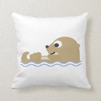 Cute Floating Otter Cushion