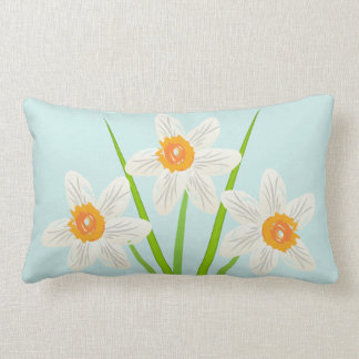 Cute  Floral Abstract Daffodils Art Lumbar Pillow