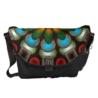 Cute Floral Abstract Vector Art Large Bag Commuter Bags