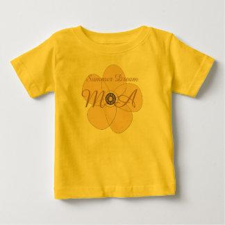 Cute Floral Add Text Initials Custom T-shirt