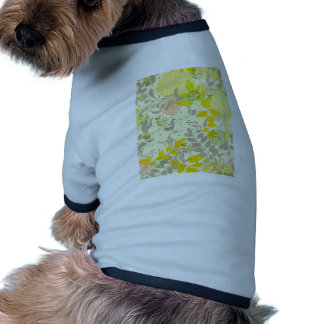 cute floral animals dog t-shirt