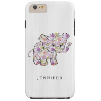 Cute Floral Baby Elephant Tough iPhone 6 Plus Case