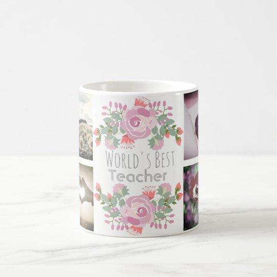 Cute floral custom monogram and images coffee mug