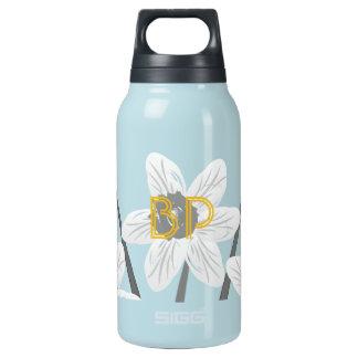 Cute Floral Daffodils Add Initials Bottle