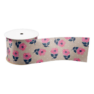 Cute Floral Decorative Pattern Satin Ribbon