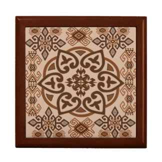 cute floral, ethnic style large square gift box