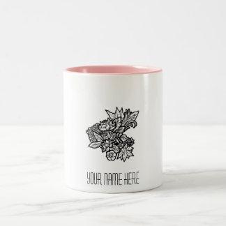 Cute floral minimalist personalised mug