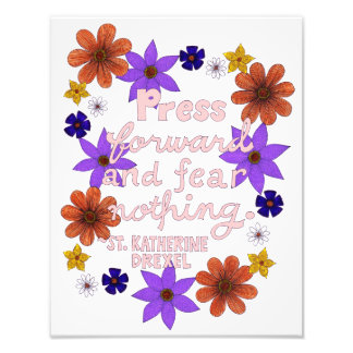 Cute Floral Pastel Typography Motivation Quote Photograph