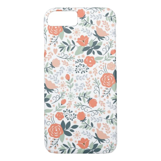 Cute Floral Pattern Girly iPhone 7 Case