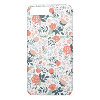 Cute Floral Pattern Girly iPhone 8 Plus/7 Plus Case