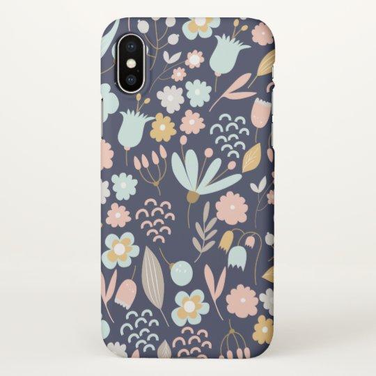 cute floral pattern modern fun iPhone X case