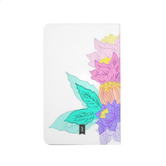 Cute floral pocket journal