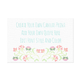 Cute floral quote template canvas print