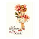 Cute Floral Vintage Birthday Greetings