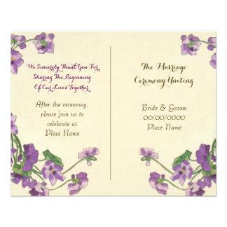 cute floral wedding program 11.5 cm x 14 cm flyer