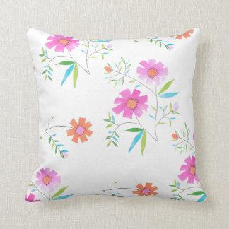 Cute Floral Wild flower Design Throw Pillow