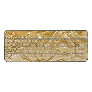 Cute Floral Wireless Keyboard Abstract Flowers 4