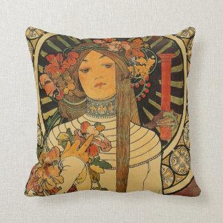 Cute floral woman cushion