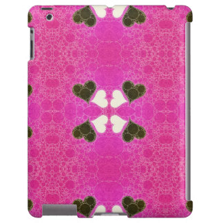 Cute Florescent Pink Heart Abstract iPad Case