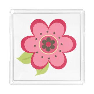 Cute Flower Acrylic Tray