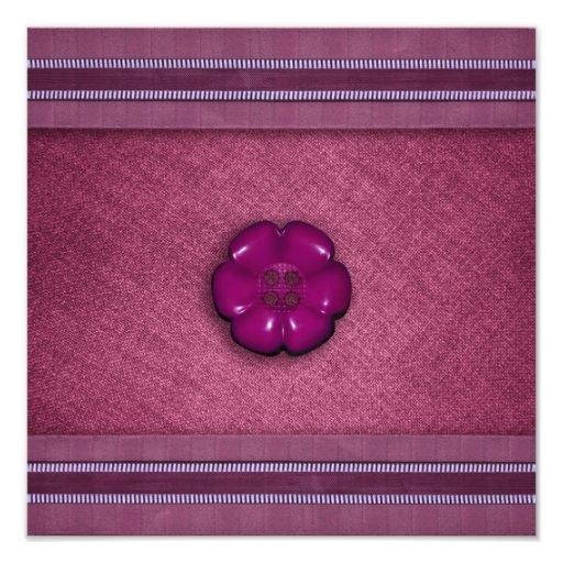 Cute Flower Button Art Photo