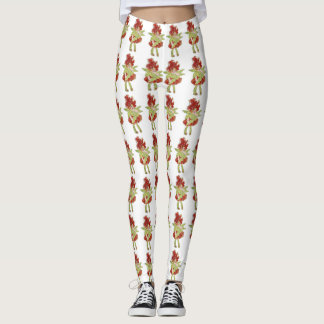 Cute Flower Children Milkweed Floral Cartoon Kids Leggings