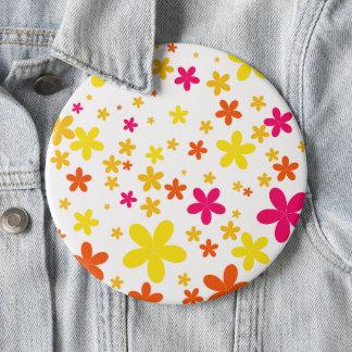 Cute flower colourful button