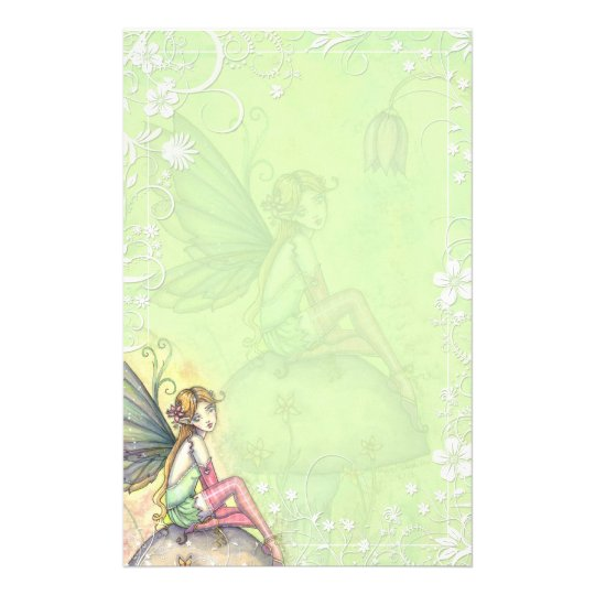 Cute Flower Fairy Fancy Stationery