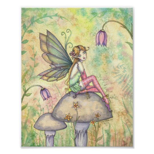 Cute Flower Fairy Poster by Molly Harrison