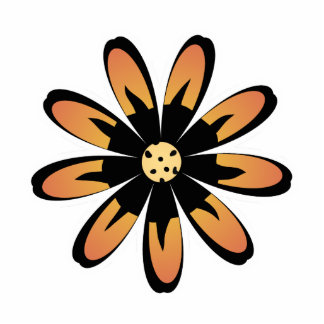 Cute Flower Magnet Yellow Orange Acrylic Cut Out