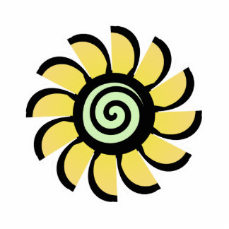 Cute Flower Magnet Yellow Photo Cut Out