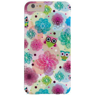 Cute flower owl background pattern barely there iPhone 6 plus case